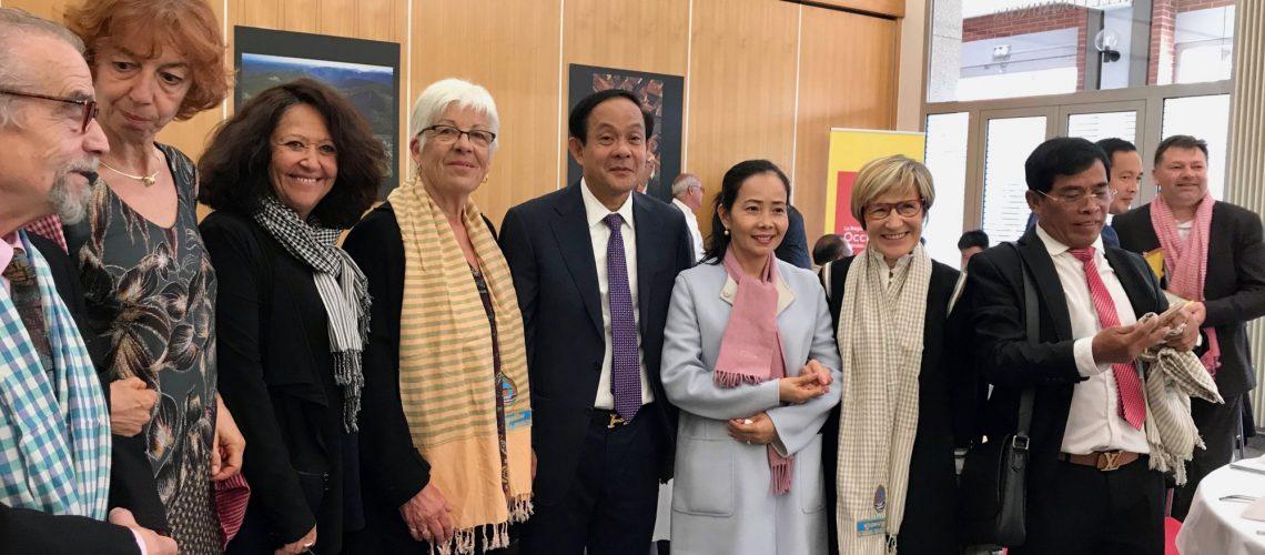 Accueil de Mr le Gouverneur de la Province Battambang à l'Hôtel de Région Occitanie